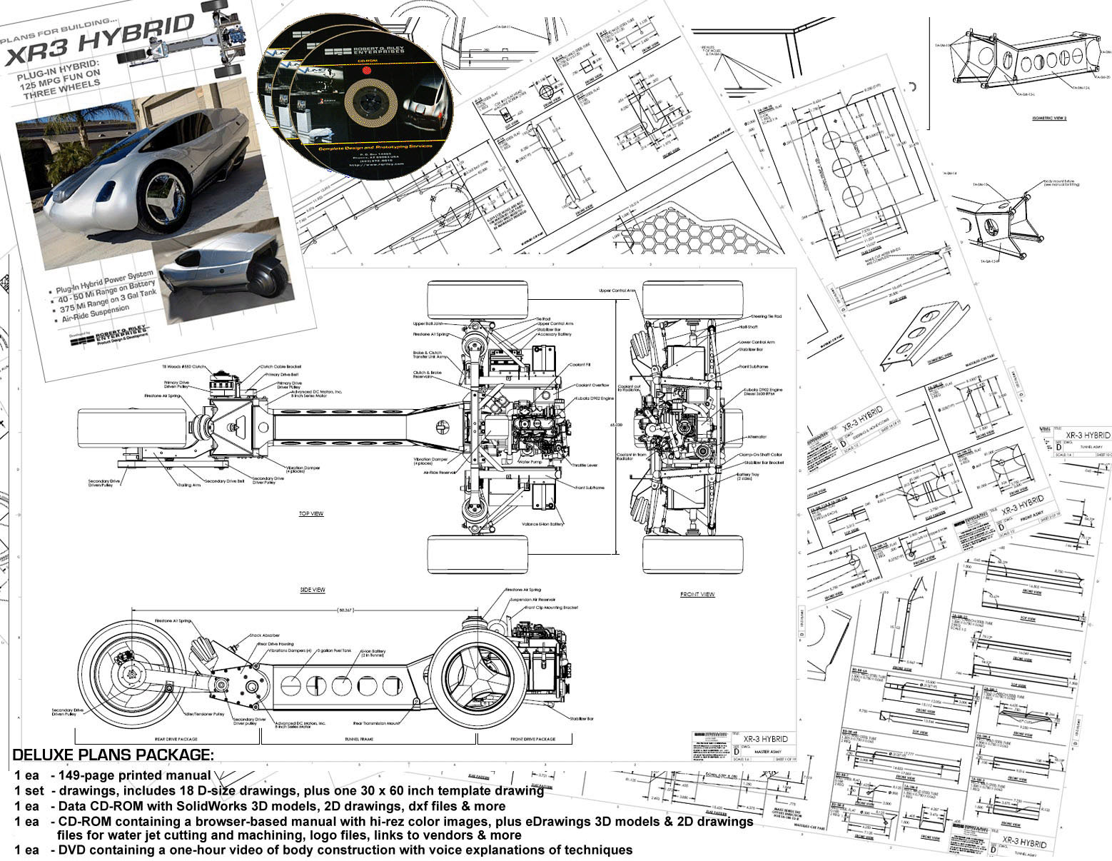 Deluxe Plan Set Done In Cad And Complete With Solidworks Files Models